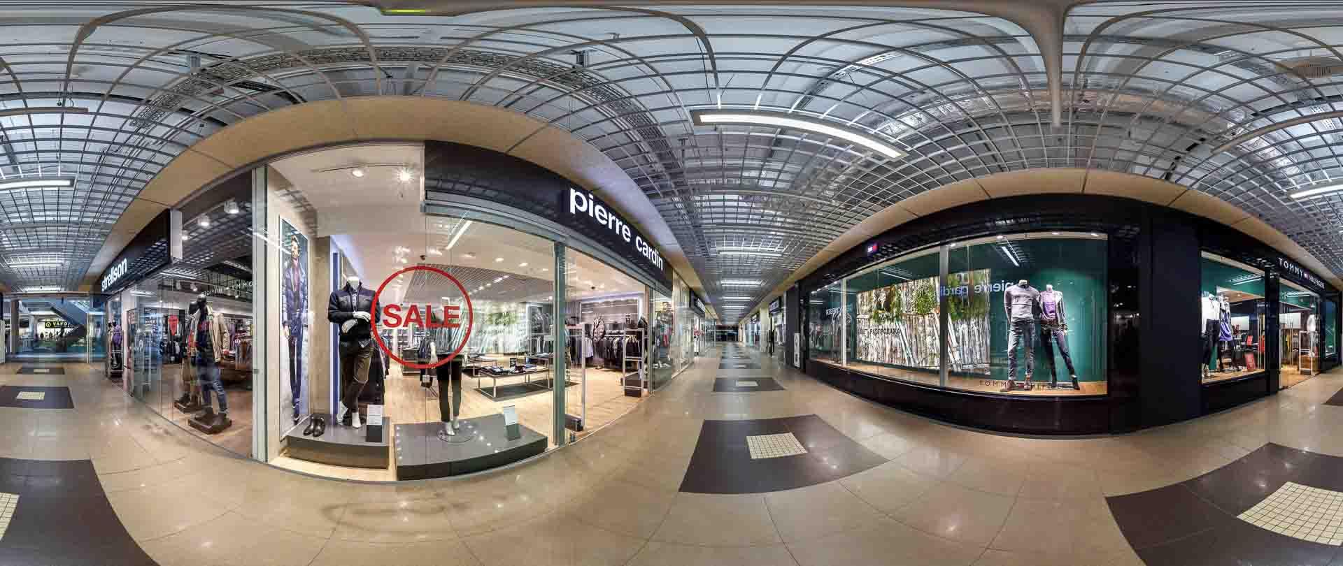 virtual tour 360 foto panoramiche centro commerciale