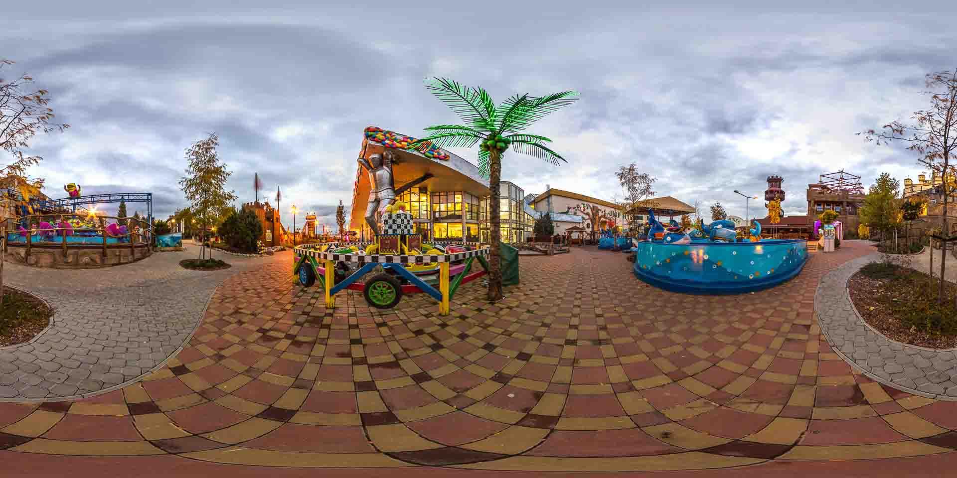 virtual tour 360 foto panoramiche attrazioni parco divertimenti e attrazioni