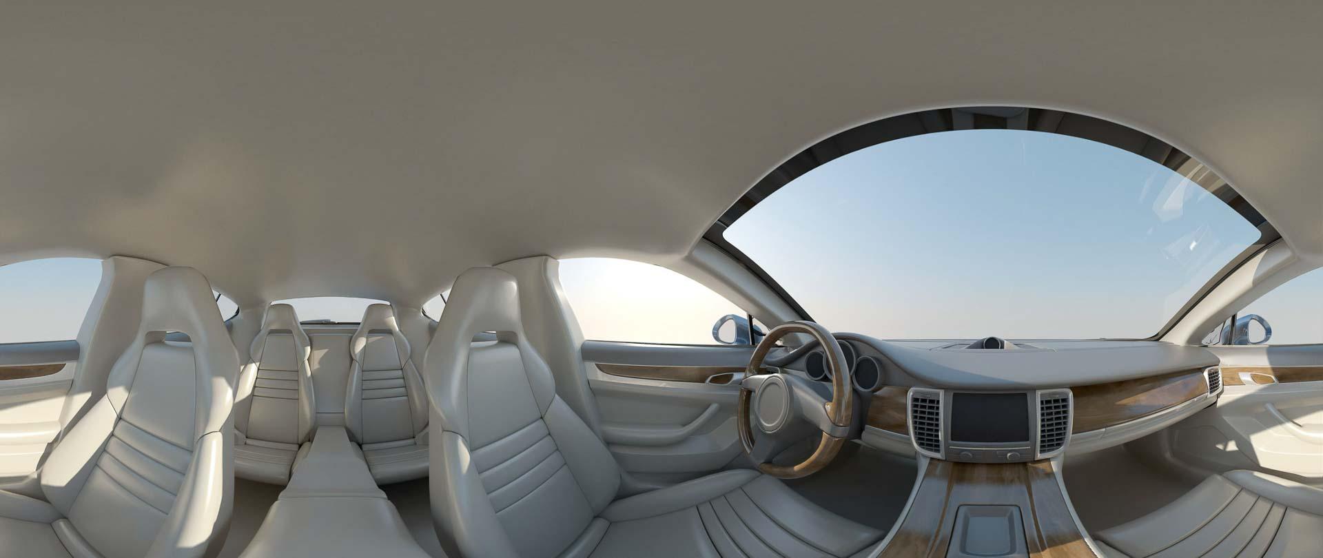 virtual tour 360 foto panoramiche interni auto barca veicolo
